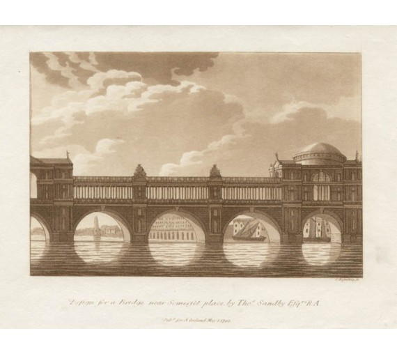 Bridge Somerset Place Sandby Thames Ireland aquatint