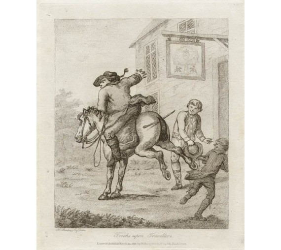 Henry Bunbury caricature Tricks upon Travellers