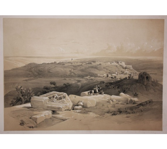 David Roberts lithograph Holy Land Cana