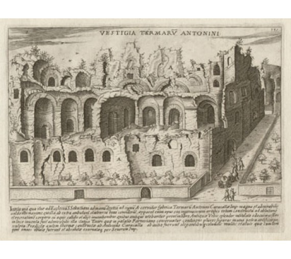 Baths of Caracalla Engraving Jacobo Lauro Rome