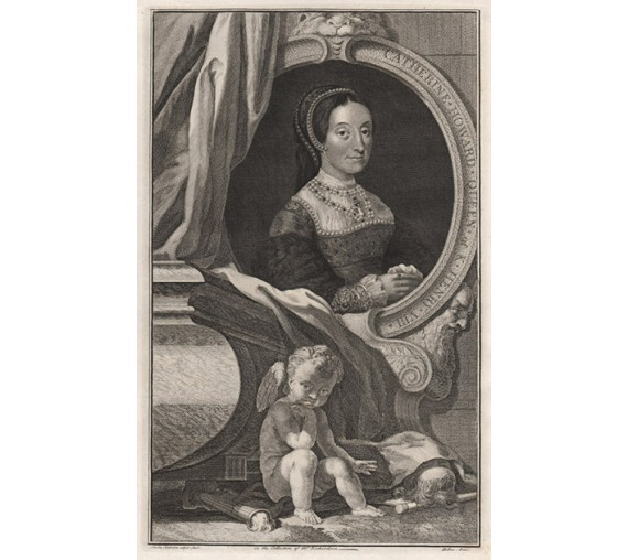 Catherine Howard Queen Houbraken portrait engraving print