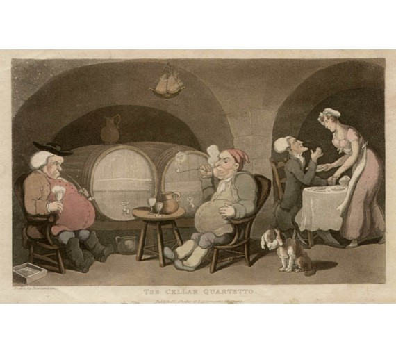 The Cellar Quartetto Thomas Rowlandson aquatint