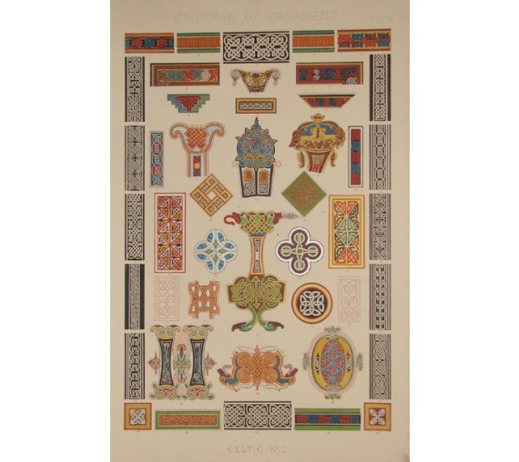 Grammar of Ornament celtic owen jones chromolithograph