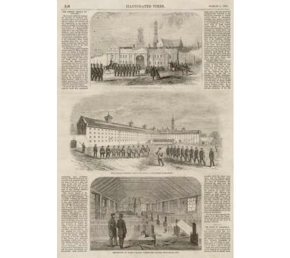 Convict Revolt Chatham engraving Illustrated Times 1861