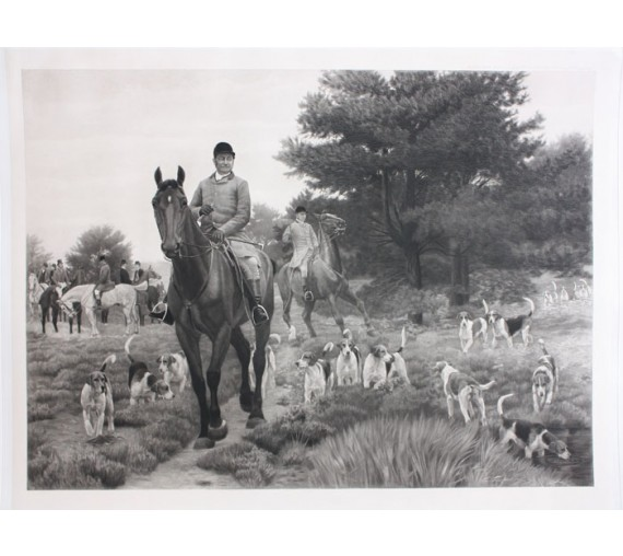 John Jones North Cheshire Hounds antique foxhunting print hunting
