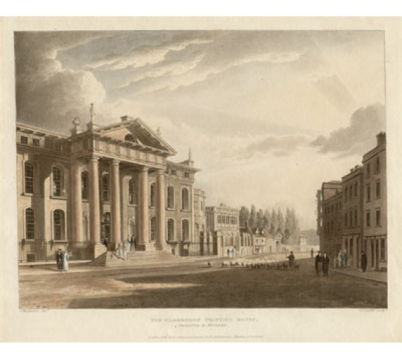 Clarendon Printing House Oxford aquatint Ackermann Stadler Mackenzie