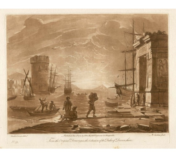 Sea Port Claude Lorraine Earlom mezzotint Boydell