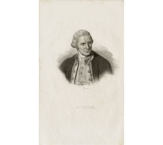 Captain James Cook portrait engraving Nathaniel Dance