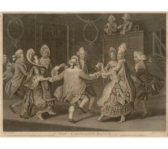 Cotillion Dance engraving James Caldwall John Collet