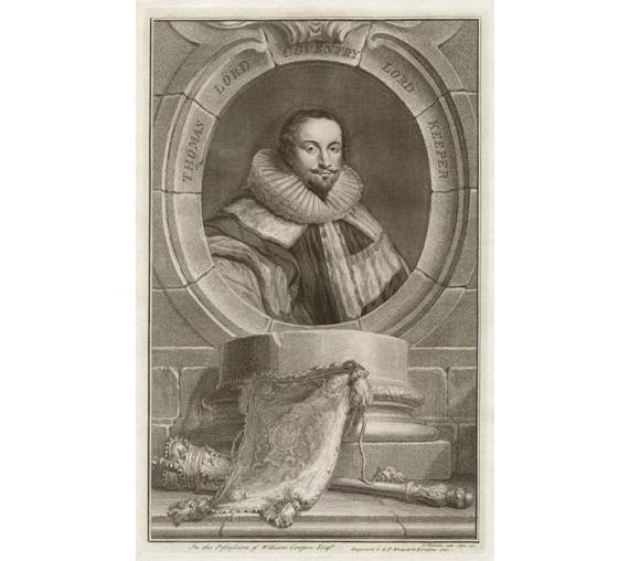 Thomas Lord Coventry portrait engraving Houbraken