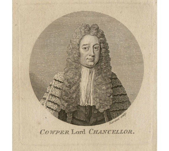 William Cowper Earl Cowper portrait engraving Ravenet