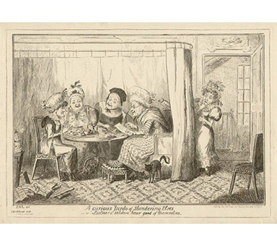 Cruikshank caricatute etching curious Junto of slandering elves