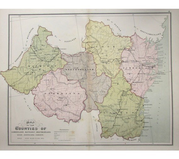 nsw county map cumberland bathurst westmorland