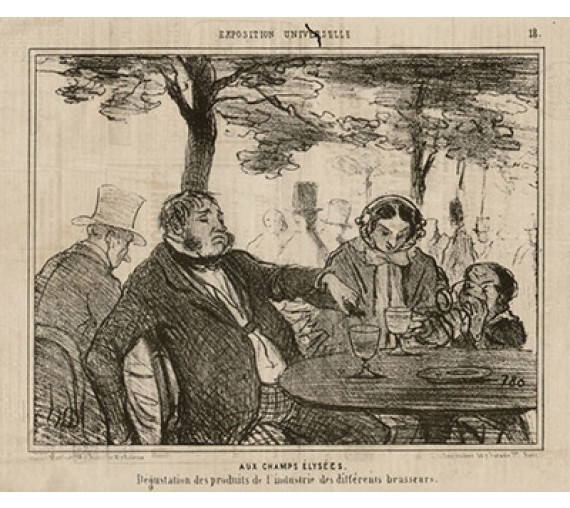 Honore Daumier lithograph Exposition Universelle