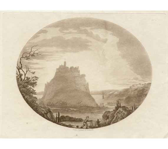 Mont St Michel Dibdin oval aquatint