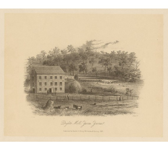 Dights Mill Yarra Lithograph Tingle ST Gill
