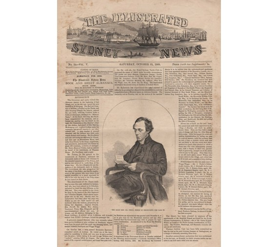 Perry Bishop Melbourne engraving Illustrated Sydney News 1868
