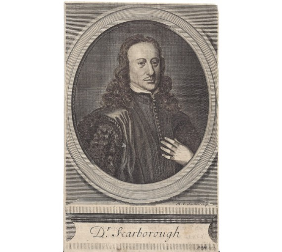Charles Scarburgh Scarborough portrait engraving doctor physician