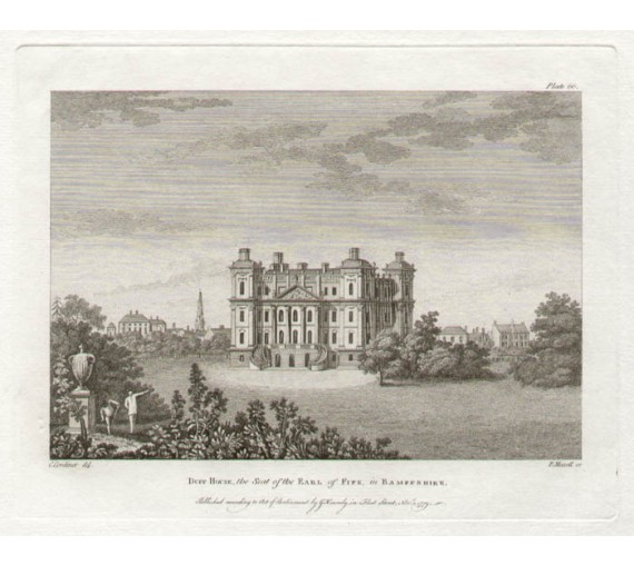 Duff House Scotland Paul Sandby antique print engraving