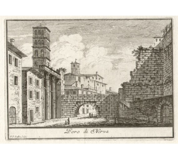 Forum of Nerva engraving Philotee Francois Duflos Rome