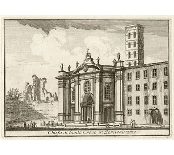 Church of Santa Croce in Jerusalemme engraving Philotee Francois Duflos Rome