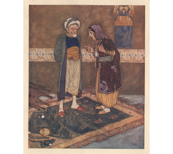 Arabian Nights illustration Edmund Dulac
