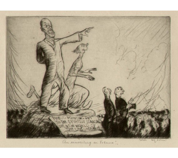 Unveiling Vienna signed etching Will Dyson
