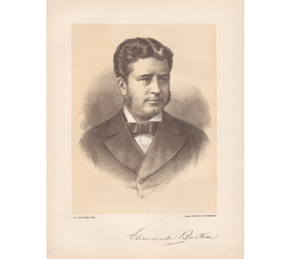 Edmund Barton lithograph William Macleod Freeman portrait