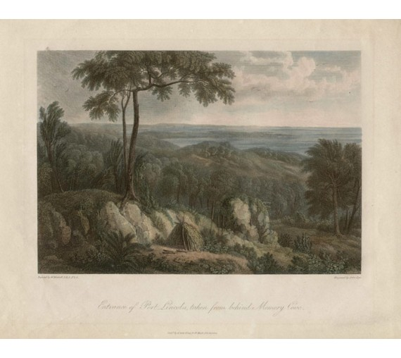 Entrance of Port Lincoln engraving William Westall 1814