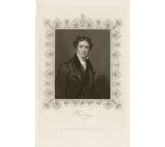 Michael Faraday portrait engraving Pickersgill electromagnetism