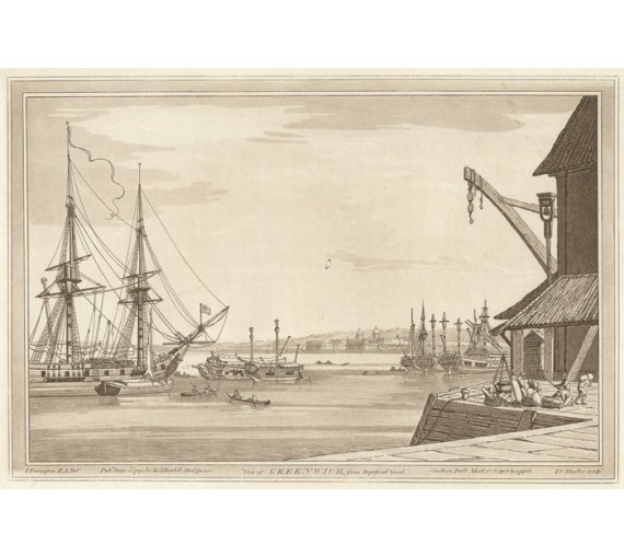 Greenwich Deptford Yard Farrington aquatint Stadler London