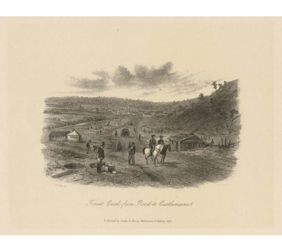 Forest Creek Road Castlemaine lithograph Tingle ST Gill
