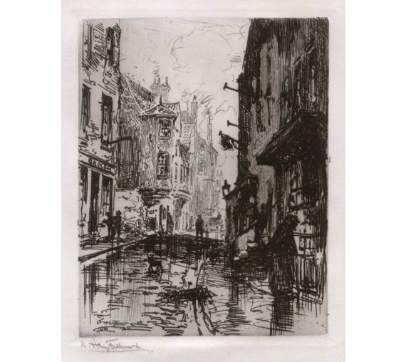 Edinburgh Albert Henry Fullwood etching