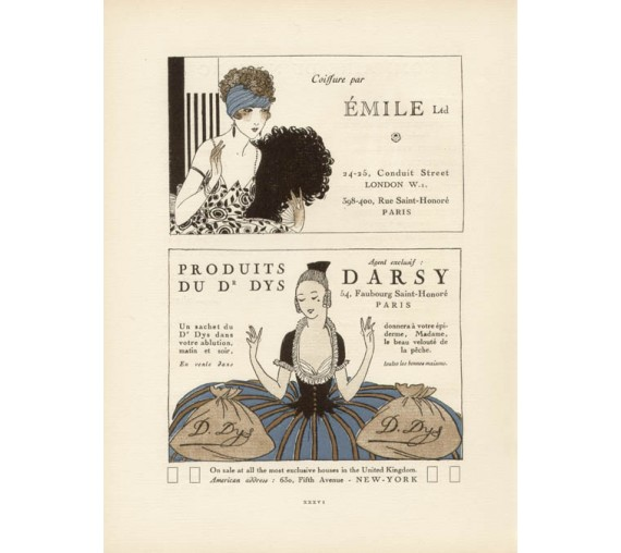 gazette du bon ton advertisement emile darsy pochoir