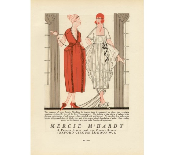gazette du bon ton advertisement mercie mchardy pochoir