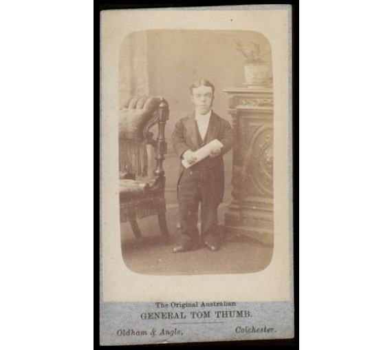 Original Australian Tom Thumb Albumen photograph