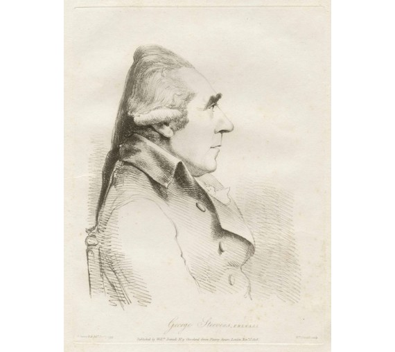 George Steevens portrait engraving etching Dance Daniell