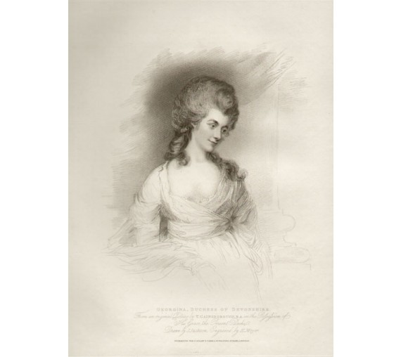 Georgina Duchess of Devonshire portrait engraving Gainsborough