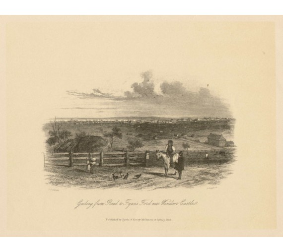Geelong Fyans Ford Lithograph Tingle ST Gill