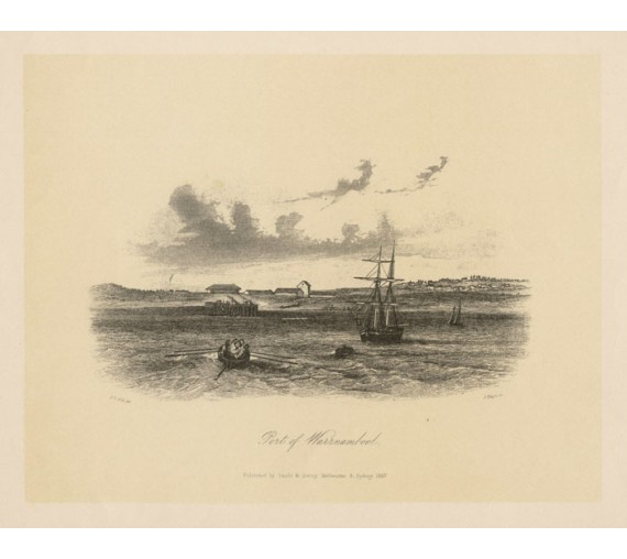 Port of Warrnambool lithograph Tingle ST Gill