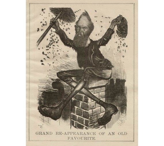 Grand ReAppearance Old Favourite engraving Carrington Melbourne Punch 1885