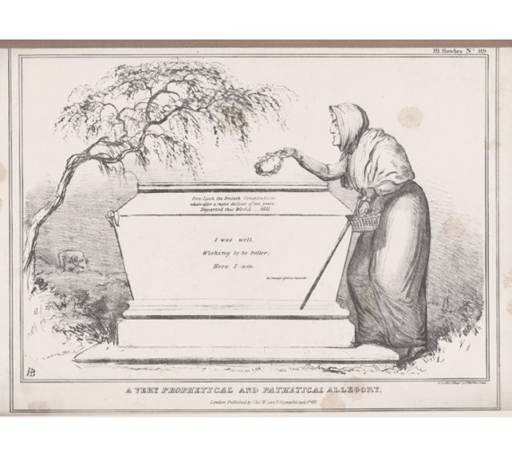HB Doyle lithograph caricature Prophetical and Pathetical Allegory Wellington