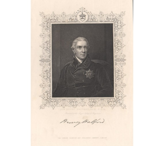 Henry Halford portrait engraving doctor physician