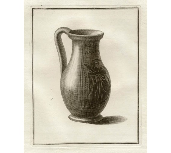 Attic black figured olpe William Hamilton Greek Vase engraving Etruscan