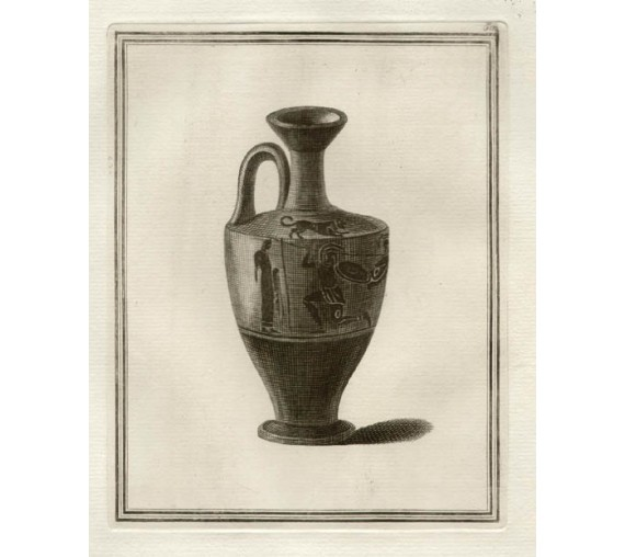 Attic black figured lekythos William Hamilton Greek Vase engraving Etruscan