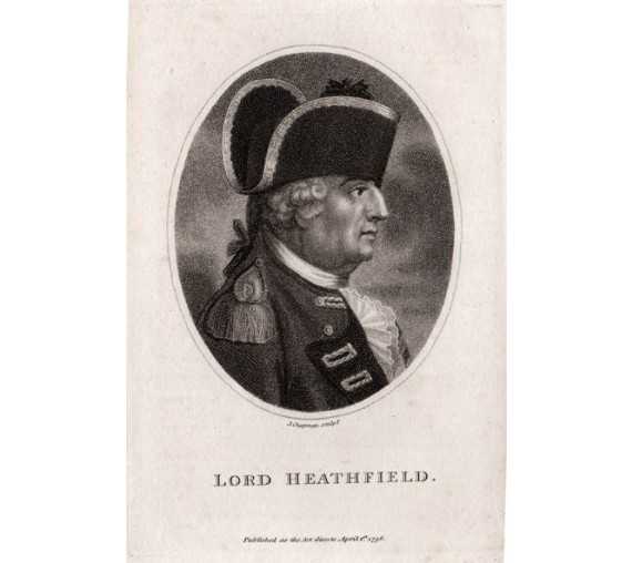 Lord Heathfield Eliot portrait engraving Gibraltar