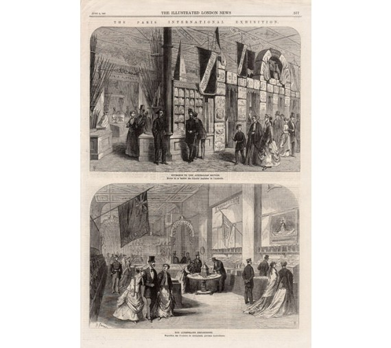 Paris International Exhibition engraving Illustrated Lonodon News