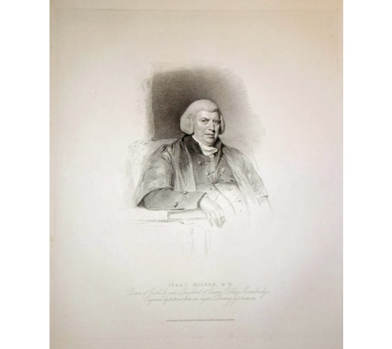 Isaac Milner mathematician portrait engraving print