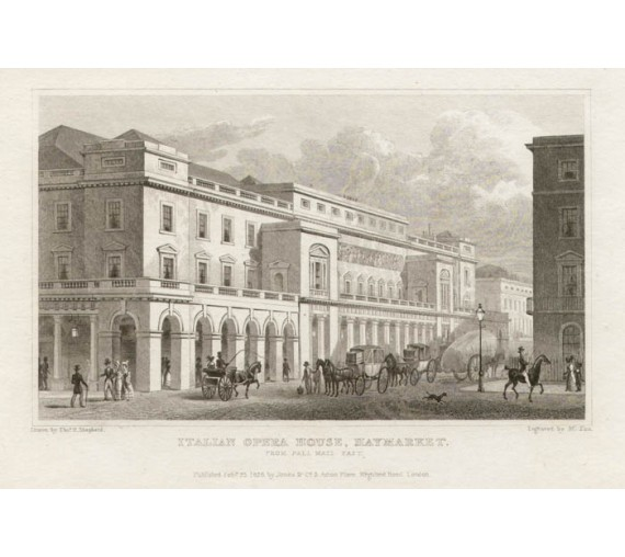 Italian Opera House Haymarket London Shepherd engraving
