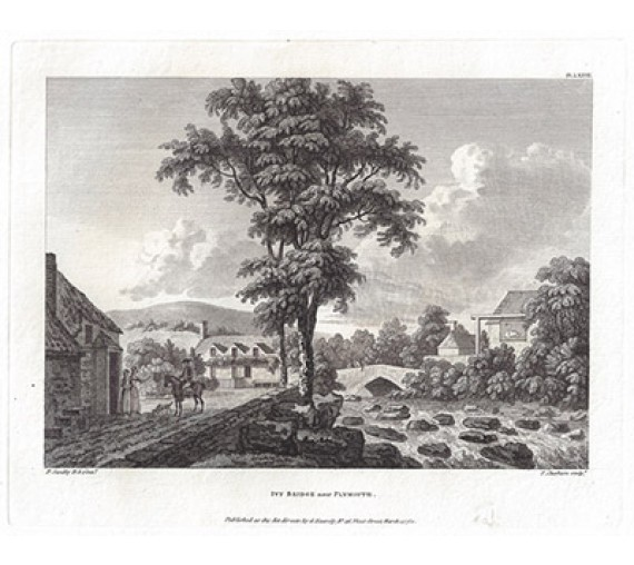 Ivy Bridge Plymouth Paul Sandby antique print engraving